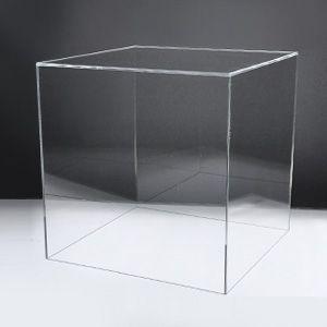 アクリルケースB/コレクションケース/フィギュアケース/ディスプレイケース/5面体/土台無/クリア W30cm/D30cm/H30.3cm|plasart
