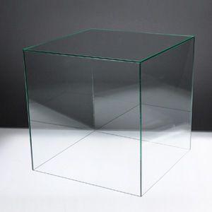 アクリルケースB/コレクションケース/フィギュアケース/ディスプレイケース/5面体/土台無/ガラスエッジ W30cm/D30cm/H30.3cm|plasart