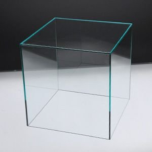 アクリルケースC/コレクションケース/フィギュアケース/ディスプレイケース/5面体/土台無/ガラスエッジ W20cm/D20cm/H20.3cm|plasart