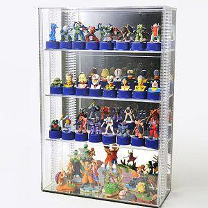 コレクションケースクリアS/棚板3枚付/コレクションケース/フィギュアケース/ディスプレイケース/W30cm/D12cm/H45cm|plasart