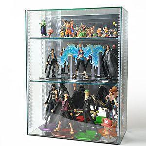 【送料無料】 コレクションケースG5/ガラスエッジ/棚板3枚付/W45cm/D22cm/H60cm|plasart