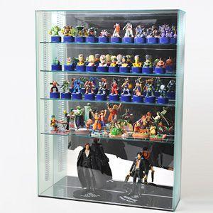 【送料無料】 コレクションケーススリガラスL/棚板4枚付/W45cm/D12cm/H60cm|plasart