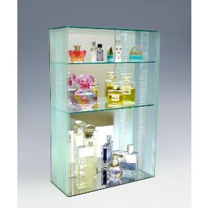 【送料無料】 コレクションケースS/スリガラス/棚板3枚付/W30cm/D12cm/H45cm|plasart