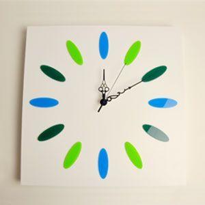 掛け時計/壁掛け時計/ドロップクロック ブルーホワイト|plasart