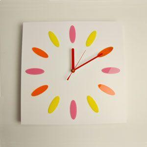 掛け時計/壁掛け時計/ドロップクロック ピンクホワイト|plasart