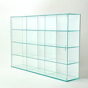 【送料無料】 壁掛コレクションケース/背面白/12部屋タイプ/W53.7cm/D10.6cm/H37.1cm|plasart