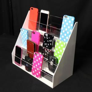 携帯電話/スマホ/iphone/ディスプレイケース脇板ホワイト 20台用|plasart