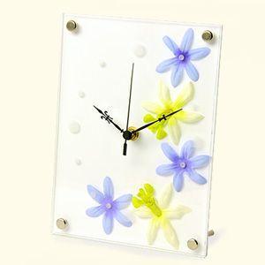 インテリア置時計/卓上時計/グリーンクロック アフリカンリリーブルー|plasart