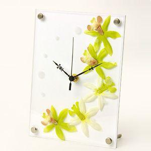 インテリア置時計/卓上時計/グリーンクロック アフリカンリリーグリーン|plasart