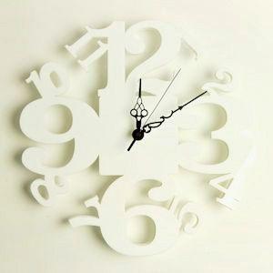掛け時計/壁掛け時計/リズムクロック ホワイト|plasart