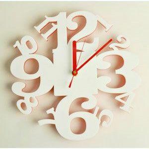 掛け時計/壁掛け時計/リズムクロック ホワイトレッド|plasart