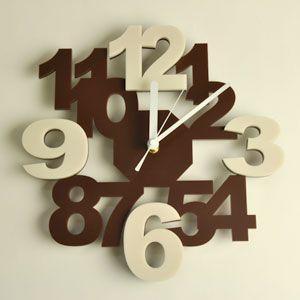 掛け時計/壁掛け時計/ロックロックプラス ブラウンアイボリー|plasart