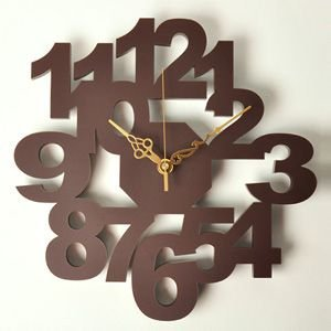 掛け時計/壁掛け時計/ロックロック ブラウン|plasart