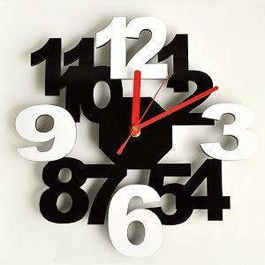 掛け時計/壁掛け時計/ロックロックプラス ブラックホワイト|plasart