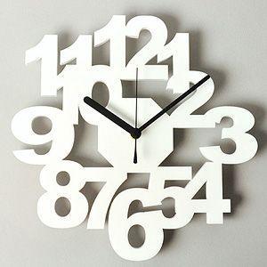掛け時計/壁掛け時計/ロックロック ホワイト|plasart