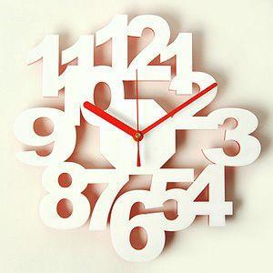 掛け時計/壁掛け時計/ロックロック ホワイトレッド|plasart