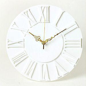 掛け時計/壁掛け時計/ローマクロック ホワイト|plasart