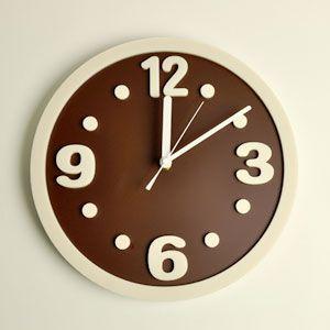 掛け時計/壁掛け時計/ラウンドクロック ブラウン|plasart