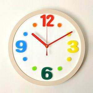 掛け時計/壁掛け時計/ラウンドクロック カラフル|plasart