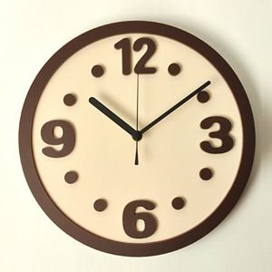 掛け時計/壁掛け時計/ラウンドクロック アイボリー|plasart