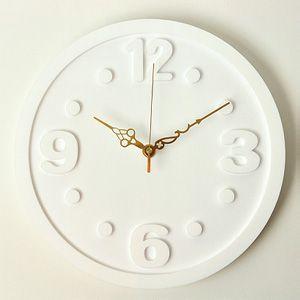 掛け時計/壁掛け時計/ラウンドクロック ホワイト|plasart