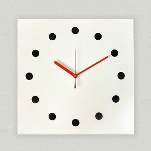 掛け時計/壁掛け時計/スクエアクロック ホワイト|plasart