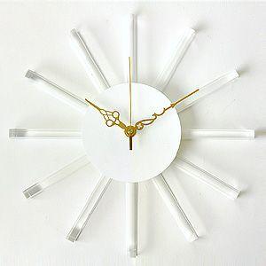 掛け時計/壁掛け時計/サンクロック ホワイト|plasart