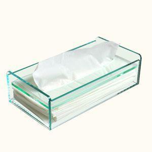 アクリルティッシュケース/ティッシュボックス/ティッシュカバー ガラスエッジ plasart