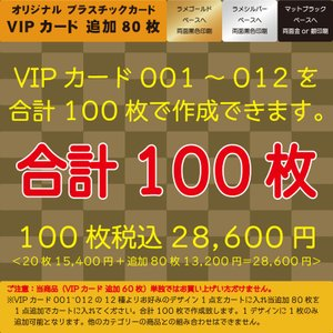 プラスチックカード プラスチック製VIPカード追加80枚 合計100枚|plasticcard-ya-com