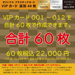 プラスチックカード プラスチック製VIPカード追加40枚 合計60枚|plasticcard-ya-com