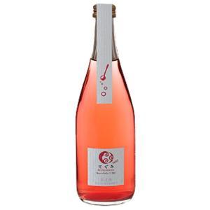 お歳暮 スパークリングワイン 酸化防止剤 無添加 丹波ワイン てぐみ マスカットベリーA ロゼ 500ml|plat-sake