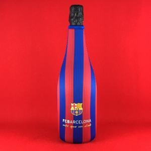 ホワイトデー スパークリングワイン スペイン FCバルセロナ ブリュット 保冷カバー付き (赤&青) 750ml|plat-sake