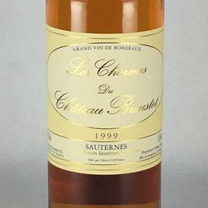 白ワイン レ・シャルム・デュ・シャトー・ブルーステ 1999 ソーテルヌ 750ml|plat-sake