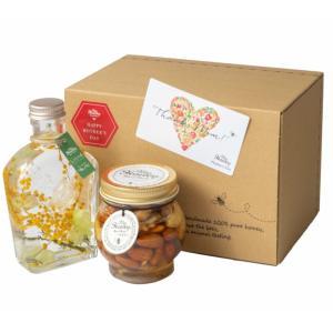 ギフト ナッツの蜂蜜漬けと ハーバリウム 限定セット 送料無料 マイハニー|plat-sake