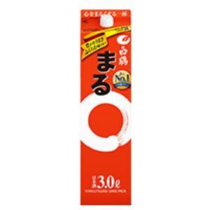 日本酒 普通酒 白鶴 まる 3Lパック 白鶴酒造 3000ml|plat-sake