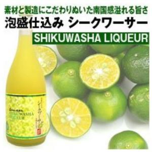 リキュール 久米島の久米仙 シークワーサー 泡盛仕込み 沖縄県産果汁使用 720ml シークヮーサー|plat-sake