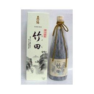 米焼酎 送料無料  黒米 竹田原酒 37度 瓶 カートン入 720ml|plat-sake