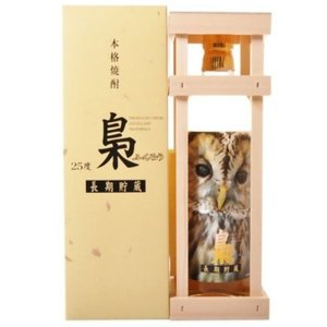 送料無料   梟(ふくろう)長期熟成 麦焼酎 25度 瓶 カートン入 720ml 麦焼酎|plat-sake
