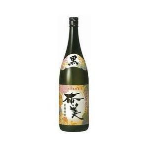 黒糖焼酎 黒麹仕立て 奄美 25度 瓶 1800ml 1.8L 奄美酒類|plat-sake