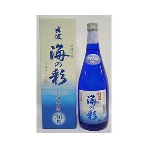 泡盛 比嘉酒造 海の彩 30度 ブルー瓶 カートン入 720ml|plat-sake