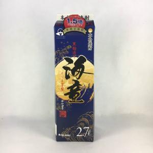 いも焼酎  海童 (かいどう) 黒麹造り 25度 パック 2700ml 2.7L|plat-sake
