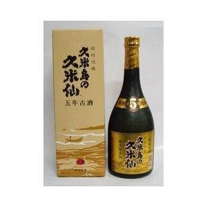 泡盛 琉球泡盛 久米島の久米仙 ブラック 5年  40度 カートン入 720ml|plat-sake