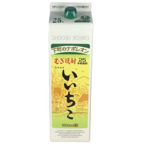 麦焼酎 むぎ焼酎 いいちこ 25度 1.8L 紙パック 三和酒類|plat-sake