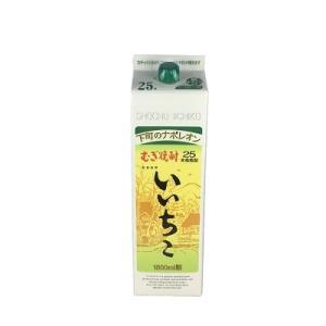 送料無料 麦焼酎 いいちこ 25度 1.8L パック 12本 ケース販売|plat-sake|02