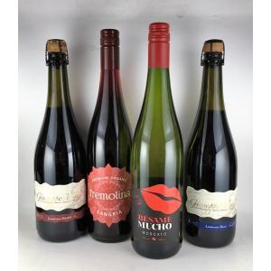 ワインセット 送料無料   しゅわしゅわっと ちょっとはじける微炭酸ワイン 4本セット|plat-sake