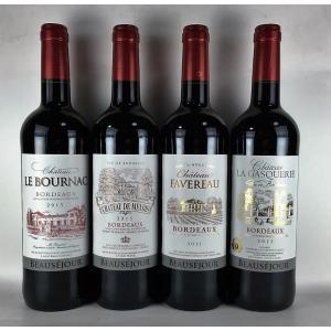 お歳暮 ワインセット 赤ワイン 送料無料   待望のビッグヴィンテージ2015年 AOCボルドー 赤ワイン 4本セット|plat-sake