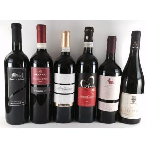 ワインセット 赤ワイン 送料無料   厳選イタリアワイン 格付けDOCG赤ワイン DOC赤ワイン  飲み比べ6本セット|plat-sake