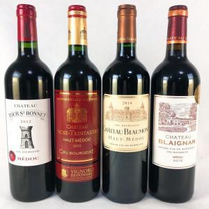 ワインセット 赤ワイン 送料無料  ボルドー メドック  クリュブルジョワ 飲み比べ  赤ワイン 4本セット  ver3|plat-sake
