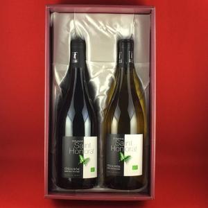ワインセット 送料無料 オーガニックワイン 赤ワイン 白ワイン 2本セット 化粧箱入り フランスワイン|plat-sake