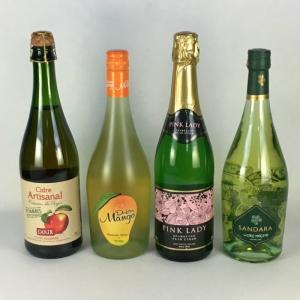 ワインセット 送料無料 女性に大人気!! 甘口フルーツスパークリング 4本セット 飲み比べ スパークリングワイン|plat-sake